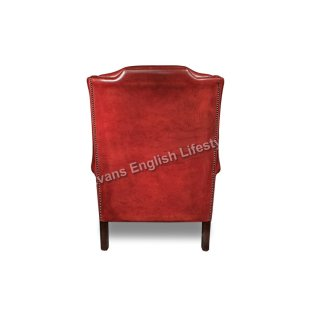 Angus Ohrensessel Wing armchair Leder oder Stoff