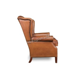 Wallace Ohrensessel Wing armchair Leder oder Stoff