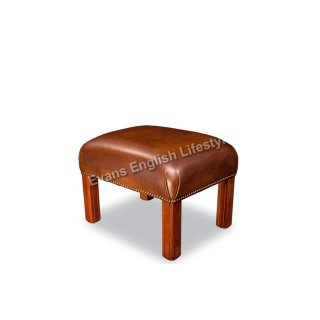 Hocker Holzfüße Leder Stoff fertigen beziehen polstern Sonderanfertigung klassisch