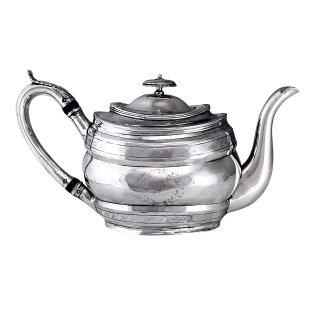 Teekanne Silber Sterling London 1804 Hennel