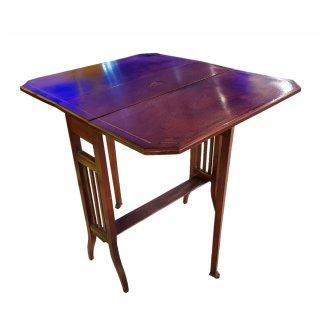antik klappbar Sutherland Table Mahagoni intarsie 1900 edwardian