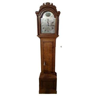 antik Standuhr Uhr Uhrwerk Eva Schiff Mahagoni Eiche Intarsie