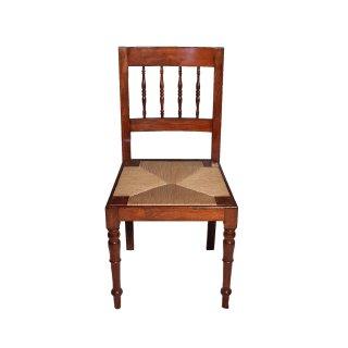 Antik Stühle Stuhl Stuhlsatz Mahagoni Schilf gedrechselt