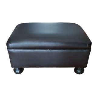 Hocker Polster Ledermöbel Sofa Sessel beziehen aufpolstern Kugelfüße