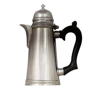 Kaffe Kaffeekanne Wasserkanne Silber plated antik konisch