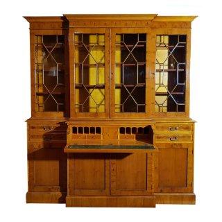 Bücherregal Sekretär Bücherschrank Bookcase Breakfront Schreibtisch Eibe