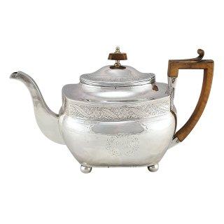 Teekanne Teapot Sterling Silber meander London Georgian