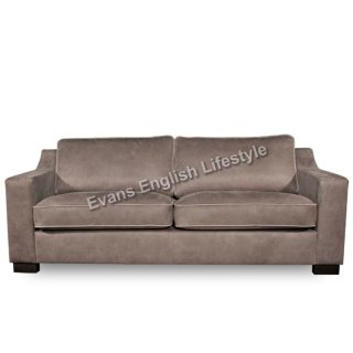 James Sessel & Sofa Leder oder Stoff